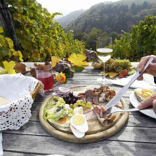 Food in a South Styrian Vineyard